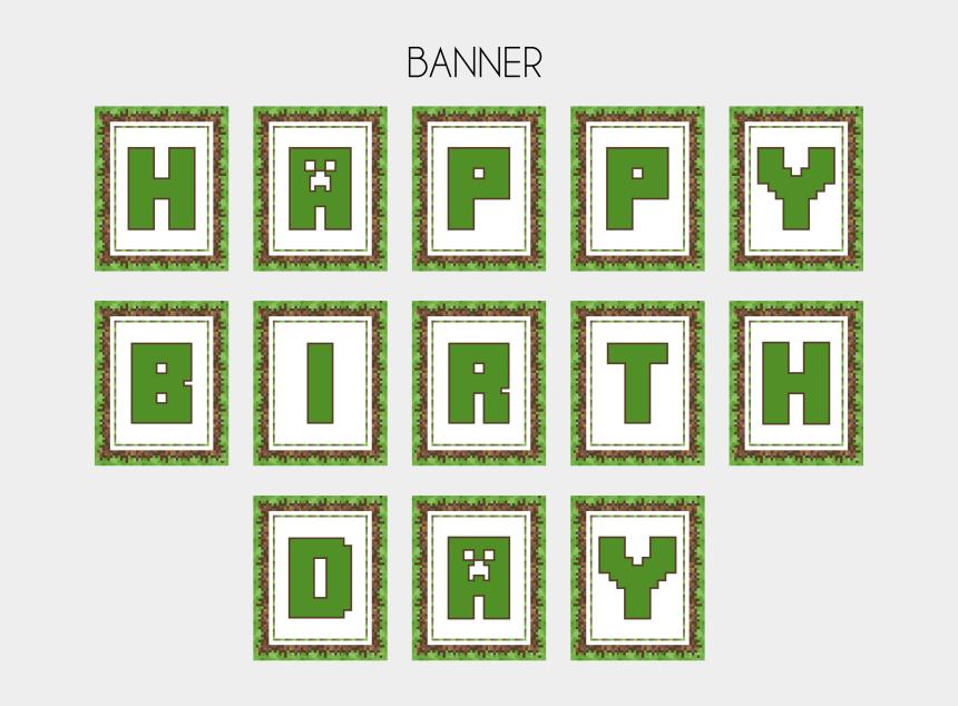 minecraft clip art, Cartoons - Minecraft Clipart Minecraft Party - Free Printable Minecraft Birthday Banner