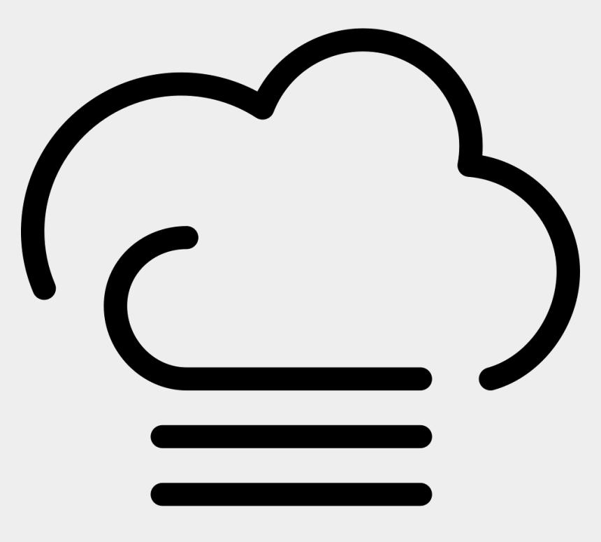 windy clipart, Cartoons - Cloudy Foggy Windy Weather Symbol Svg Png Icon Free - Windy Weather Symbol