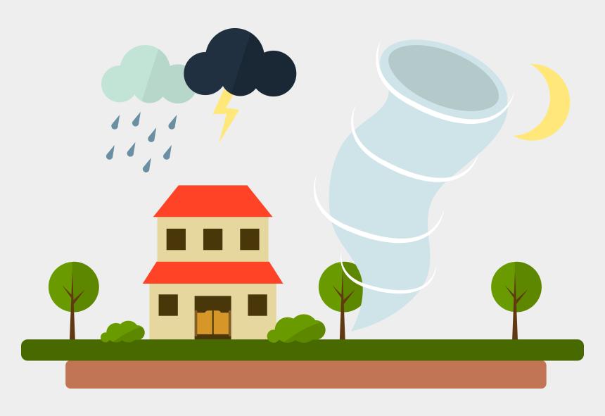 windy clipart, Cartoons - Wet Season Rain Clip Art Severe Conditions Ⓒ - Tornado Rain Storm