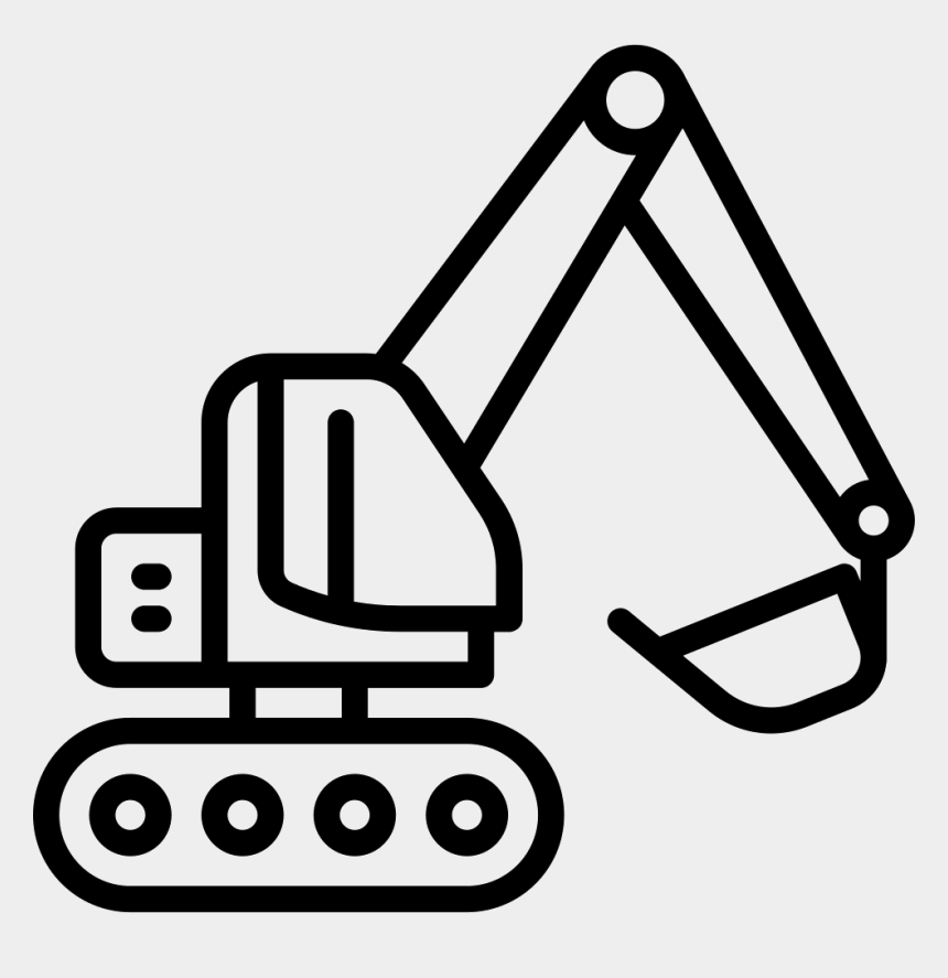 excavator clipart, Cartoons - Excavator Icon