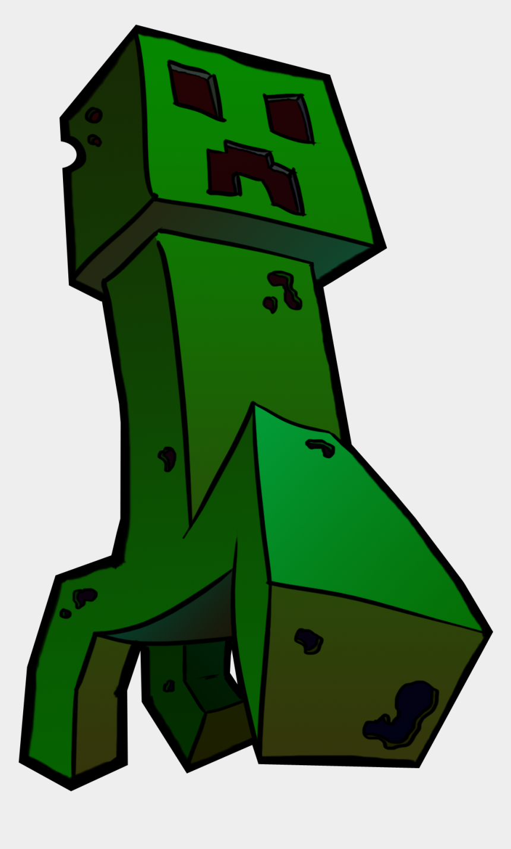minecraft clip art, Cartoons - Creeper Drawing Png