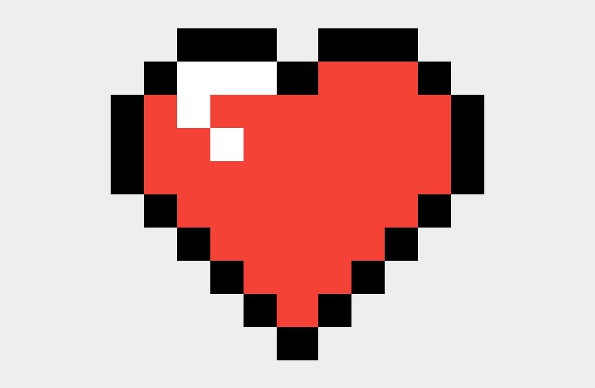 Heart Minecraft Red Heart Pixel Cliparts Cartoons Jingfm