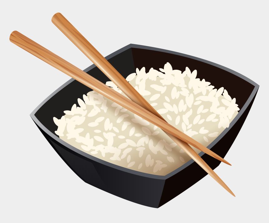 rice clipart, Cartoons - Chinese Rice And Chopsticks