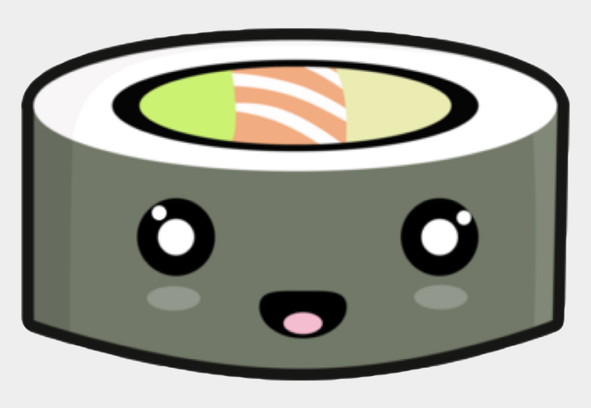 rice clipart, Cartoons - Kawaii Sushi Fish Algi Japan Rice Face Happy Cute Black - Kawaii Sushi