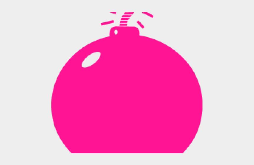 bomb clipart, Cartoons - Bomb Clipart Pink - Red Bomb Transparent