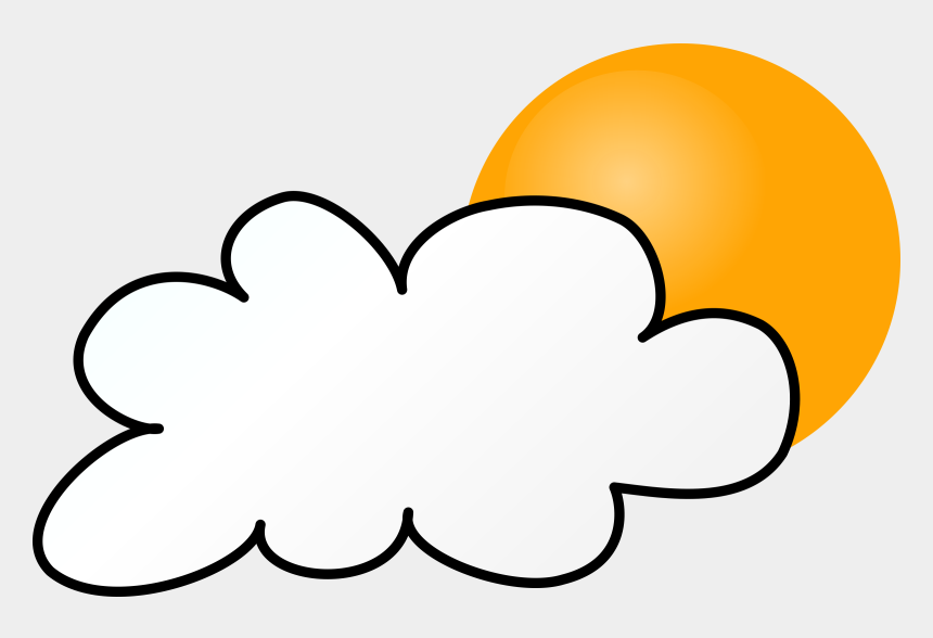 cloudy clipart, Cartoons - Cloudy Day Simple - Weather Symbols Rain