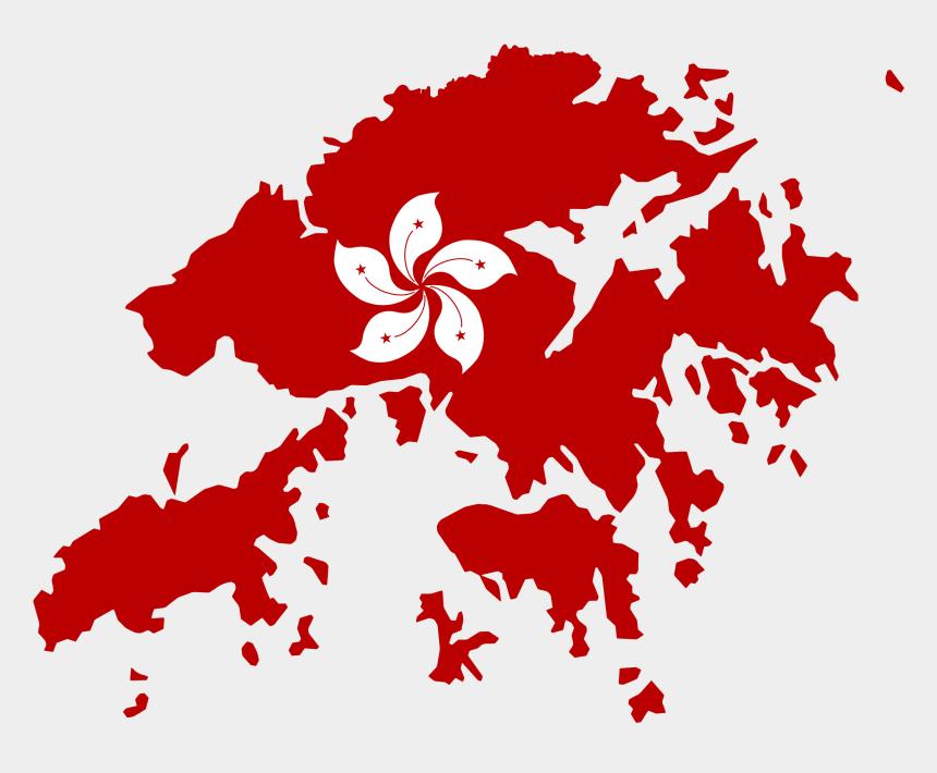 rice clipart, Cartoons - Map Of Hong Kong With Flag Overlay - High Resolution Hong Kong Map