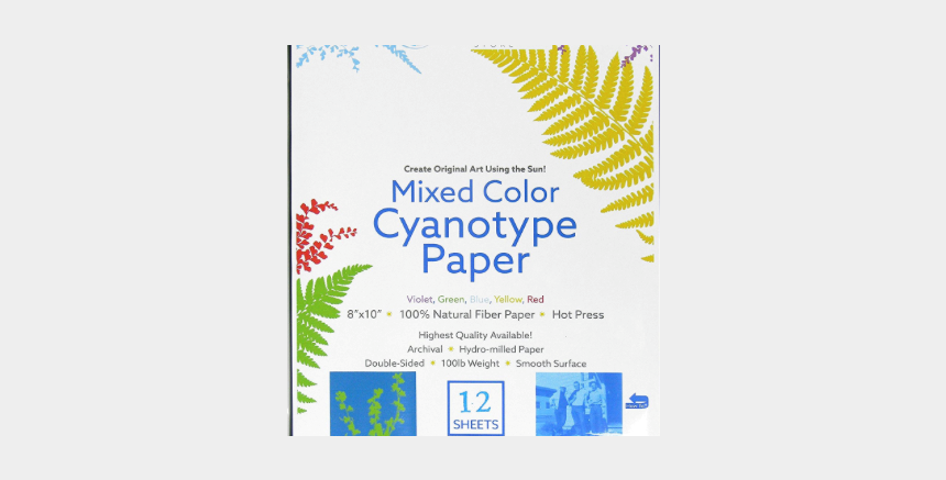 colored paper clipart, Cartoons - Silverprint Cyanotype Paper Mixed Colored 12 Pack - Graphic Design