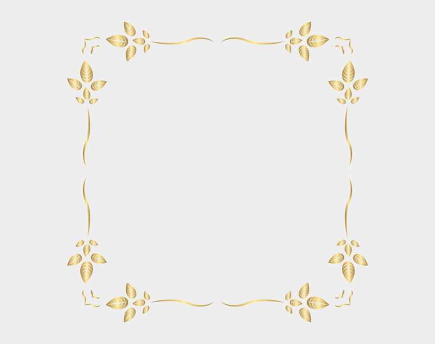 golden frame clipart, Cartoons - #leaves #square #gold #golden #frame #border #squareframe - Gold Square Frame Png