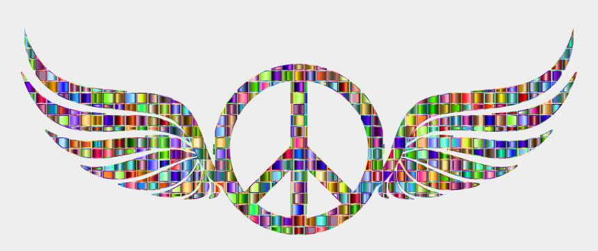 free clipart peace, Cartoons - Mosaic Clipart Peace - Peace Sign Transparent Background