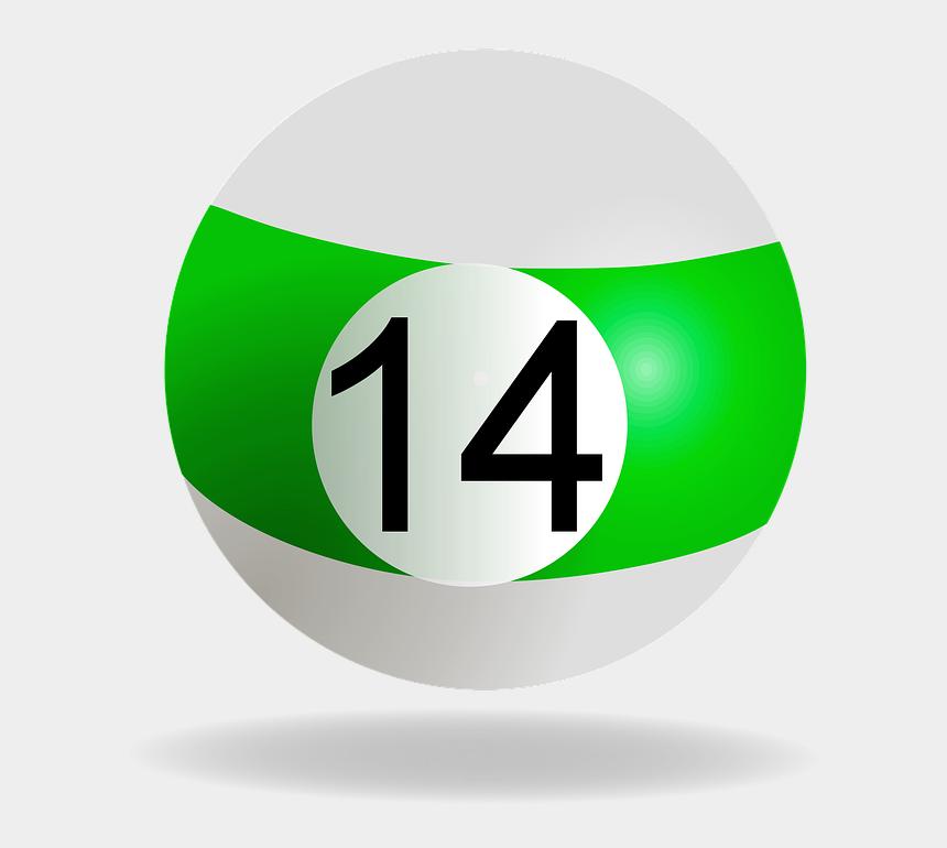 billiard balls clipart, Cartoons - Billiard Ball, Green, 14, Pool, Billiard - 14 Ball