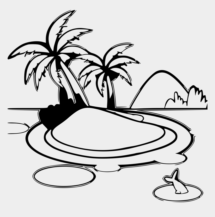 estuary clipart, Cartoons - Island Clipart Printable - Tropical Island Clipart Black And White