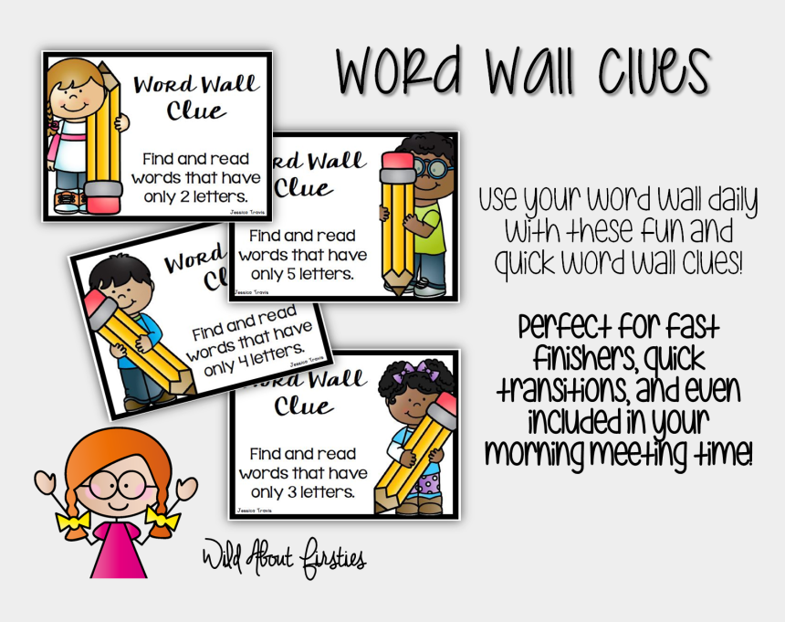 use your words clipart, Cartoons - These Word Wall Clues Are Perfect During Your Calendar - Cartoon