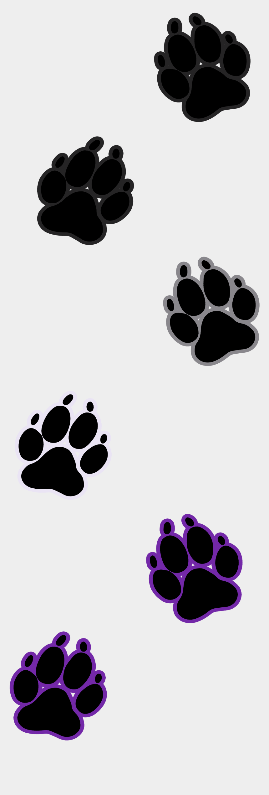 dog paw outline clipart, Cartoons - Dog Paw Print Asexual - Paw