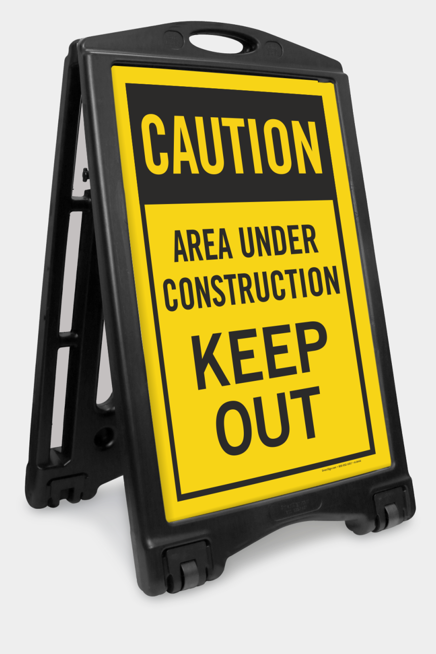 under construction signs clipart, Cartoons - Area Under Construction Keep Out Portable Sign Kit - Keep Right Sign