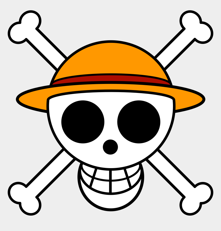 strawhat clipart, Cartoons - Straw Hat Luffy Clipart - Tete De Mort One Piece