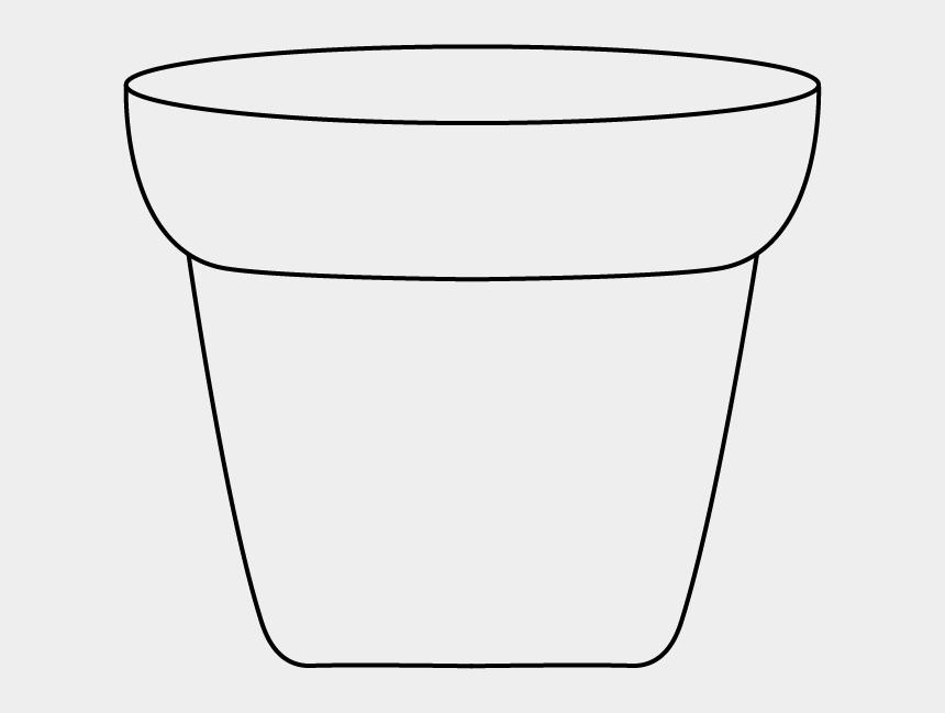 flower pots clipart, Cartoons - White Pot Cliparts - Line Art