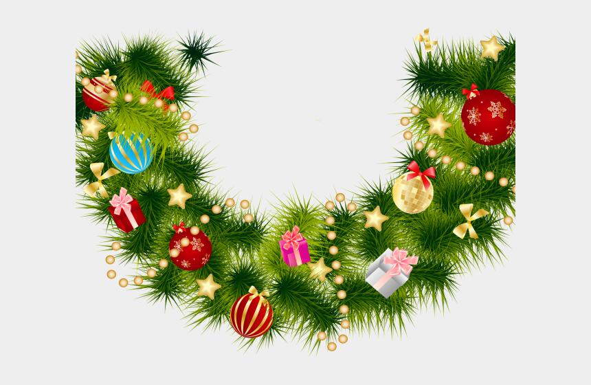 holiday garland clipart, Cartoons - Garland Clipart Fir - Free Christmas Invite Background