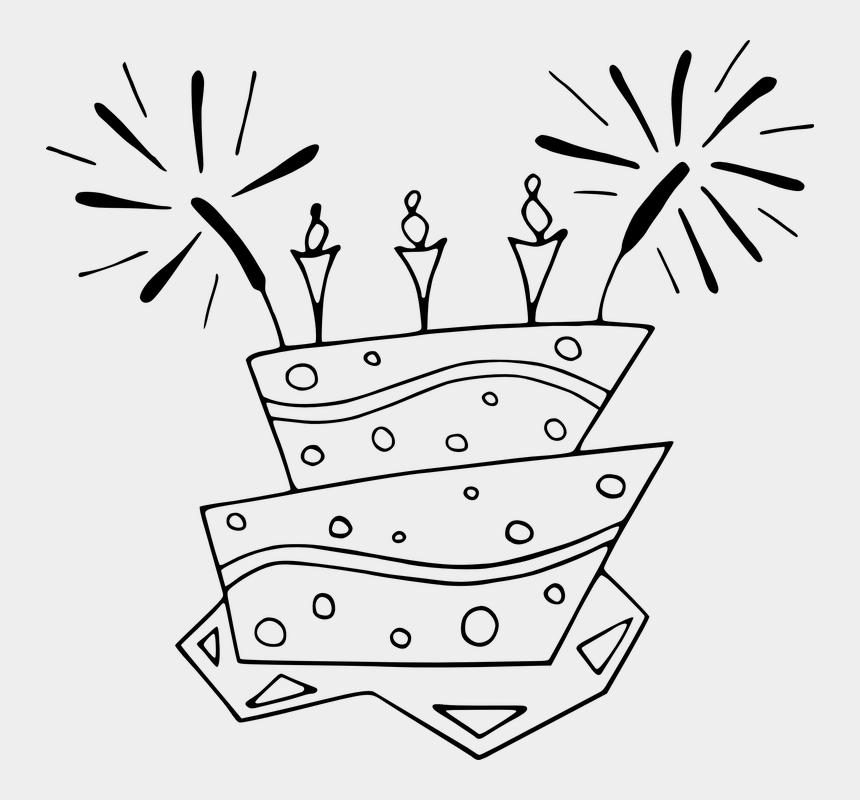 birthday party clipart black and white, Cartoons - Birthday Cake Celebration Candles Age Fun Life - Birthday Cake Clip Art