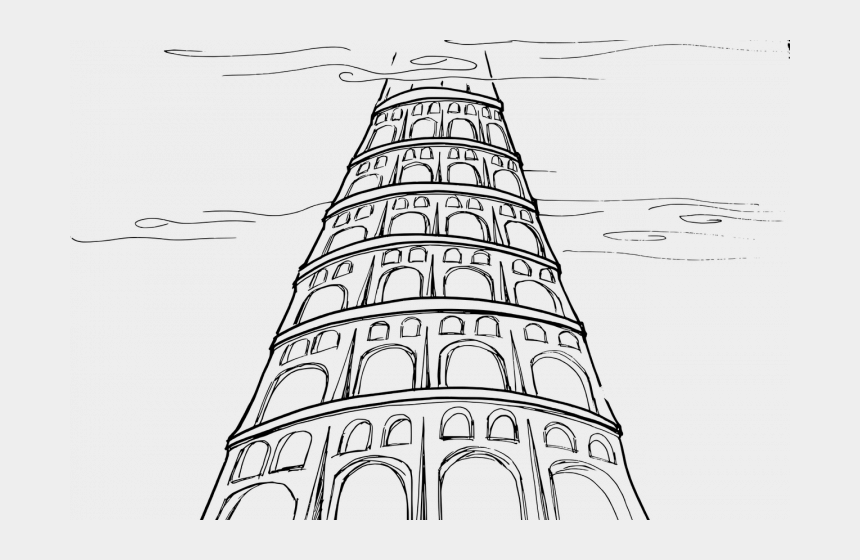 hands raised in worship clipart, Cartoons - Being Faithful Vs - Tower Of Babel Drawing