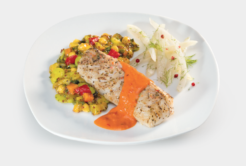 food catering clipart, Cartoons - Cod Loin With Red Pepper Sauce - Arroz Humedo