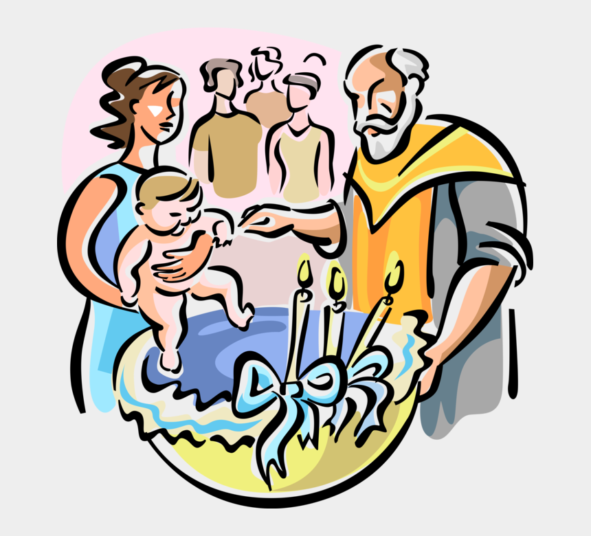 baptismal font clipart, Cartoons - Vector Illustration Of Christian Orthodox Baptism In