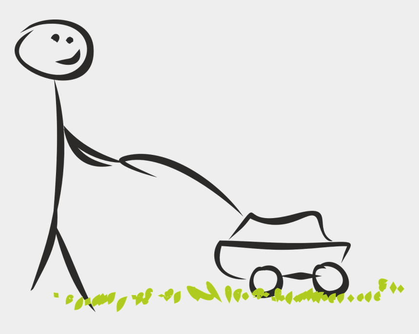 free clipart of lawn mowers, Cartoons - Lawn Mower Mow Image - Stick Figure Mowing Lawn