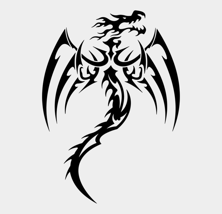 dragon skull clipart, Cartoons - Hd Decal Chinese Dragon Tattoo Tribe - Dragon Sticker
