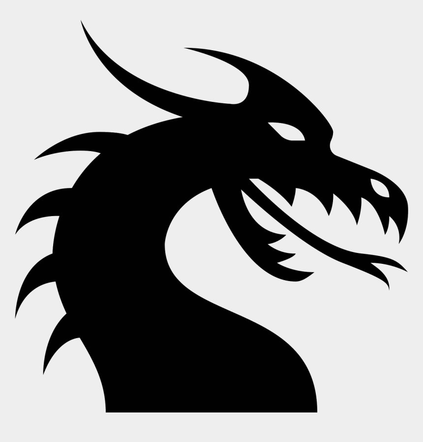 dragon skull clipart, Cartoons - Dragon Pictures Download - Dragon Head Silhouette