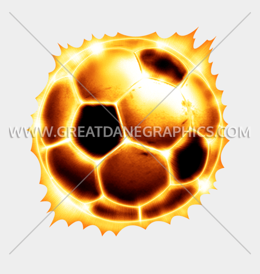 football with flames clipart, Cartoons - Soccer Ball Production Ready - Fire On Ball Png
