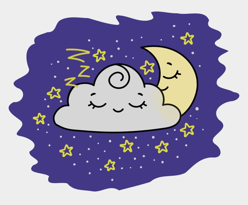crescent moon and stars clipart, Cartoons - Crescent Moon - Colour