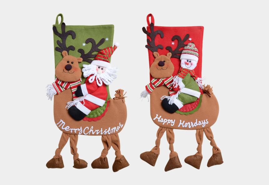 christmas gift bags clipart, Cartoons - Christmas Stocking Decorations Gift Bag - Christmas Day