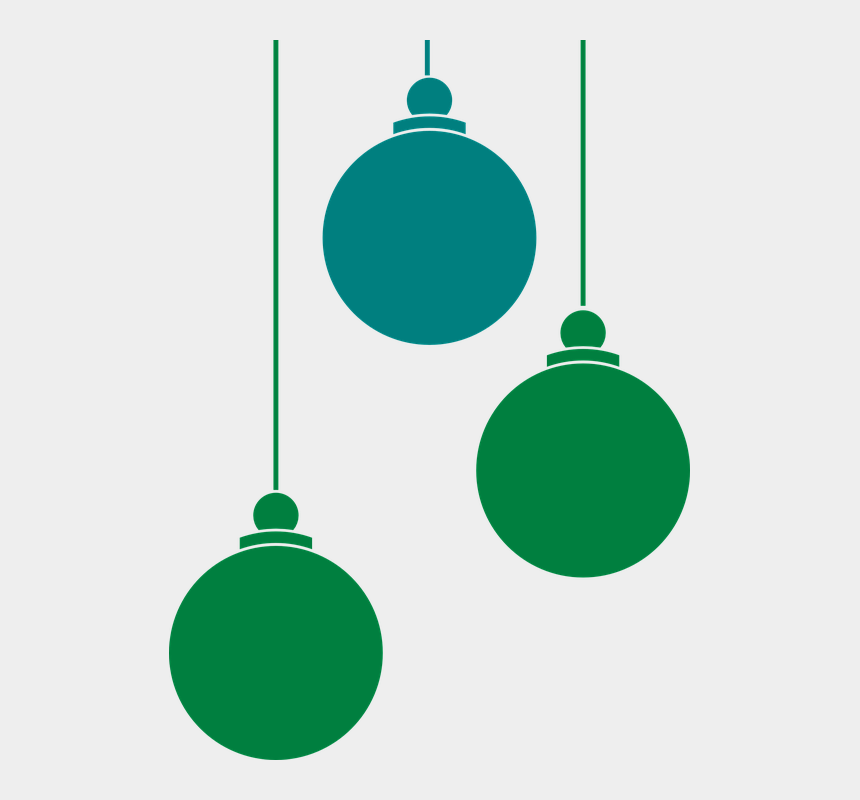 hanging of the greens clipart free, Cartoons - Balls Hanging Ornaments Decoration Ornament Green - Christmas Ornament Vector Png