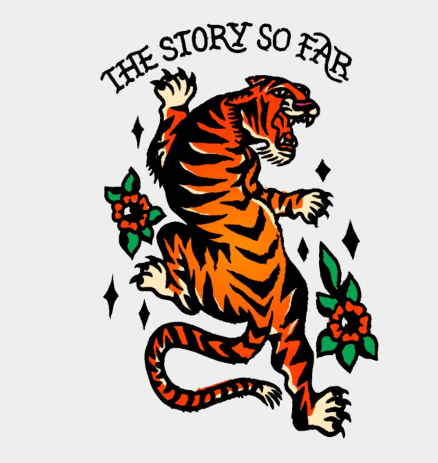 sabertooth tiger clipart, Cartoons - #mq #tigers #tiger #tattoo #oldschool - Story So Far Tiger