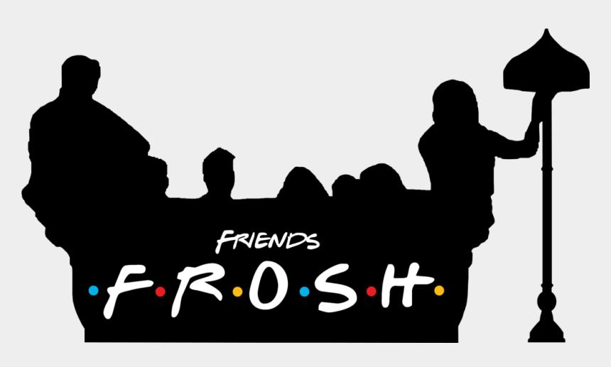 black family and friends clipart, Cartoons - F - R - I - E - N - D - S At Vu Club - Friends Tv Show Png