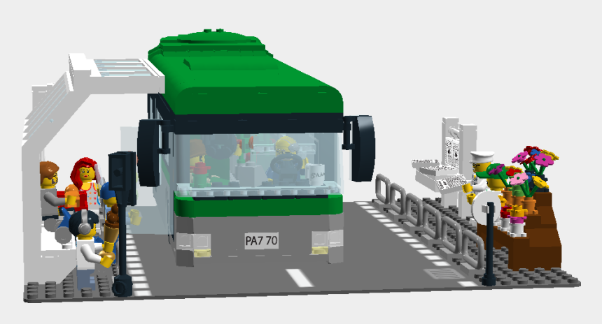 lego pieces clipart, Cartoons - Bus Station - Bus Station Clipart Png