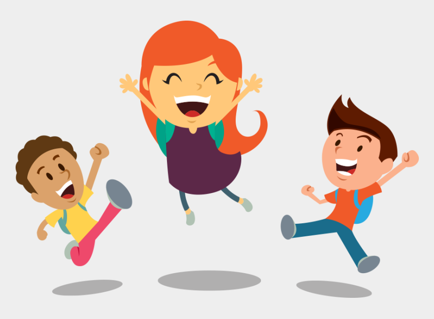 happy kids face clipart, Cartoons - Cartoon Kids Cheering