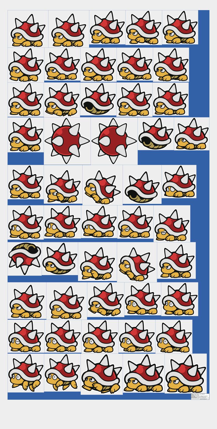 sheet paper clipart, Cartoons - Paper Sheet Clipart Big - Paper Mario 64 Sprites Spiny
