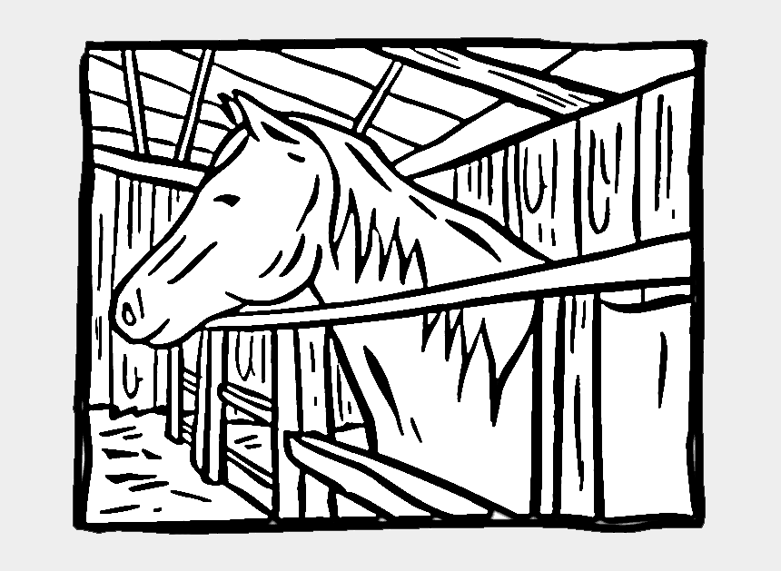 purple horse clipart, Cartoons - Horse In A Stall Coloring Page