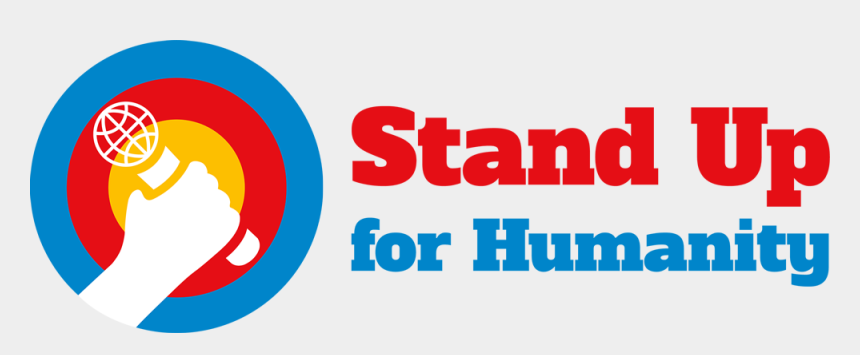 stand up for yourself clipart, Cartoons - Stand Up For Humanity Logo - Circle