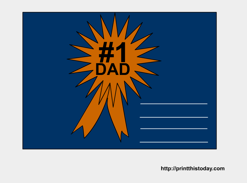 number one dad clipart, Cartoons - Fathers Day Certificate - Graphic Design