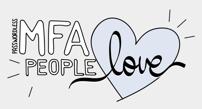two people in love clipart, Cartoons - Trusona People Love Passwordless Mfa@3x - Heart