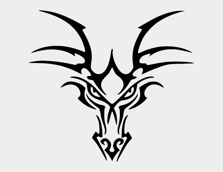 tribal designs clipart, Cartoons - Ancient Celtic Dragon Head Designs - Dragon Face Tribal Tattoo