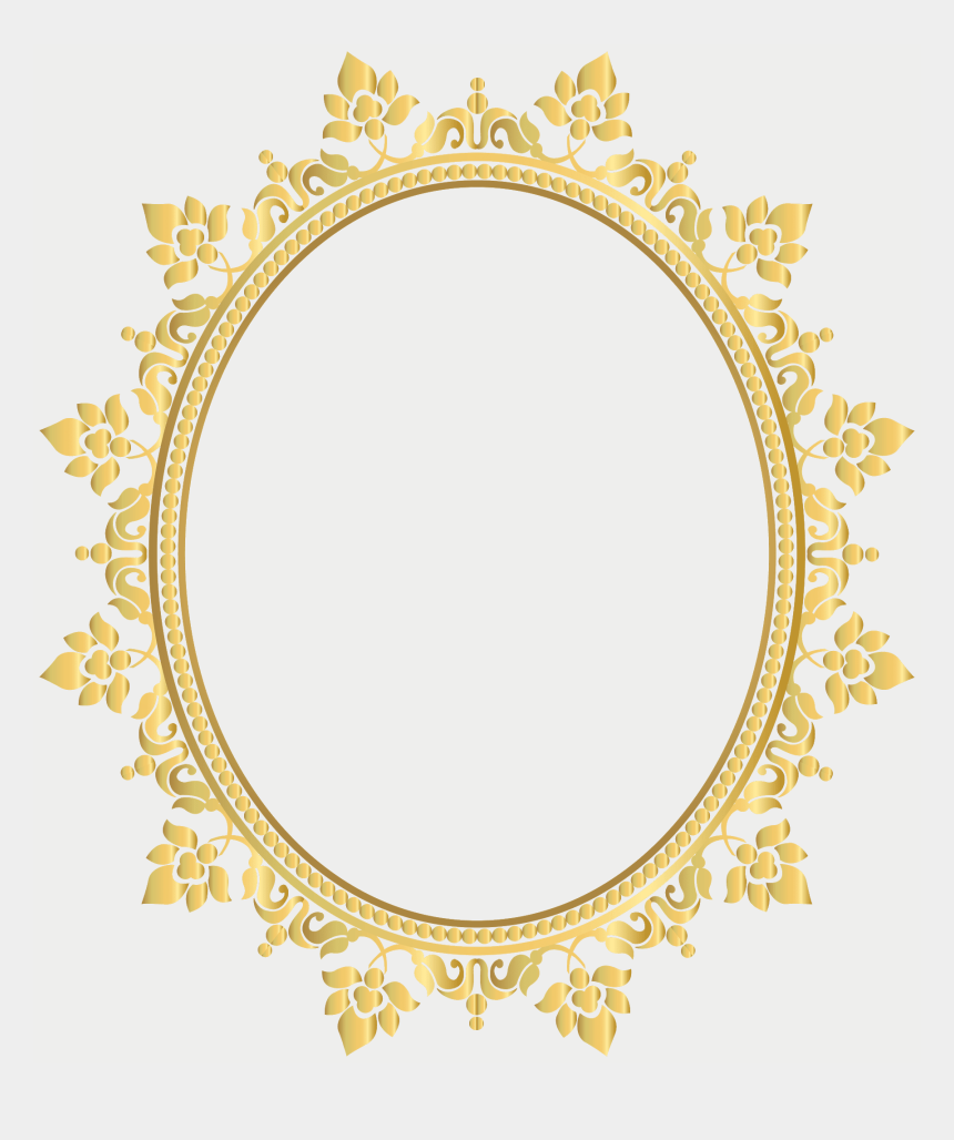 gold picture frame clipart, Cartoons - Gold, Picture Frame - Moldura Arabesco Oval Png