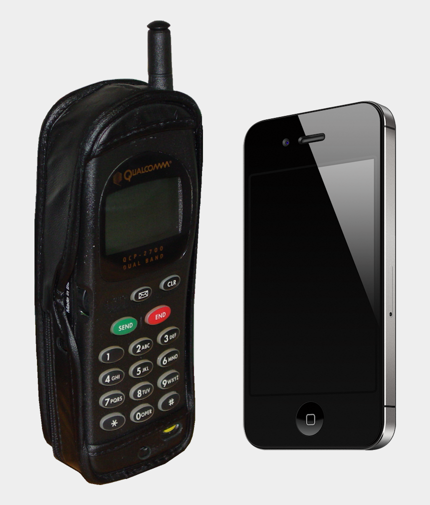 two way radio clipart, Cartoons - Samsung Phone Png - Old And New Cell Phones