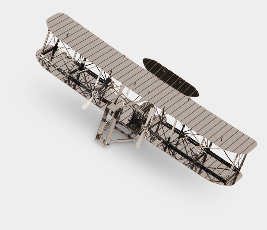 wright brothers clipart, Cartoons - The National Science And Technology Centre > Metal - Wright Brothers Plane Transparent
