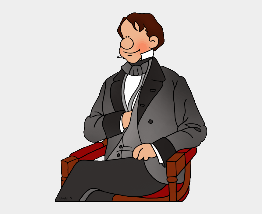 franklin clipart, Cartoons - Famous People From New Hampshire - Sitting