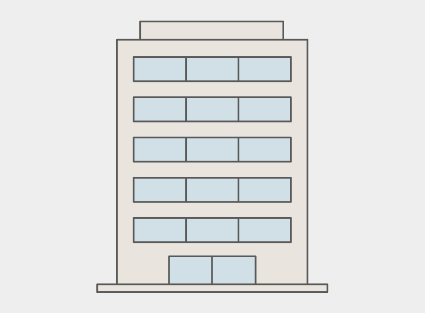 high rise building clipart, Cartoons - Rental Housing - Architecture