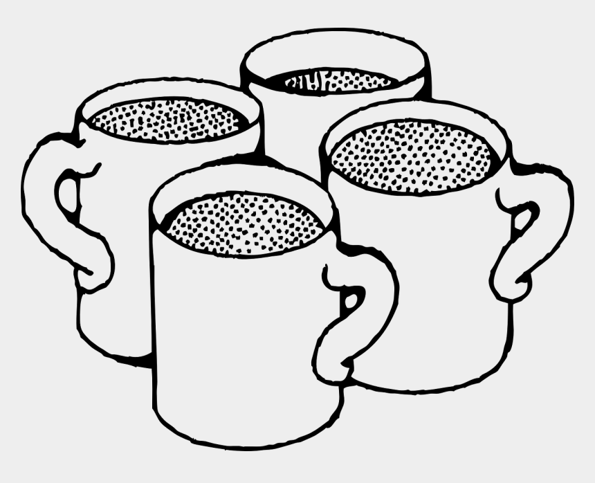 food and beverage clipart, Cartoons - Coffee Cup Mug Ready To Use Food And Drink Spot Illustrations - Cups Black And White