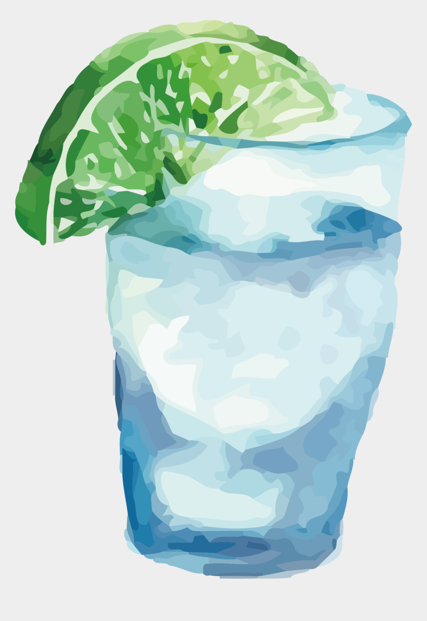 frozen drink clipart, Cartoons - Juice Drink Vector Transprent - Glass Of Water Watercolor